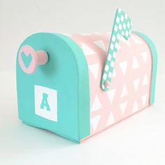 Valentine Mailbox Tutorial with Apple Barrel Paints #plaidcrafts