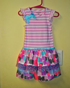 d8cffed53f3a2 Wonderkids 2T Dress Pink Strip Bow Ruffle Easter Spring Summer EUC  #WonderKids #EasterCasualFormalParty