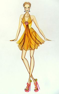 Stellita PinK StaR: COLLEZIONE Peimaver a estate yellow dress shiffon