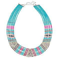 Mudd® Tribal Beaded Multi Strand Necklace, Women's, multicolor