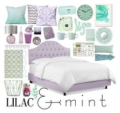 """""""Color Challenge: Lilac & Mint"""" by may-calista ❤ liked on Polyvore featuring interior, interiors, interior design, home, home decor, interior decorating, NOVICA, Americanflat, DENY Designs and ferm LIVING"""