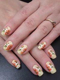 Uñas decoradas estampa primaveral. Fabulous Nails, Nail Tech, How To Do Nails, Acrylic Nails, Nail Designs, Create, Flowers, Beauty, Beautiful