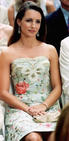 Charlotte (Kristin Davis) rocks this floral Oscar de la Renta