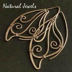 Sterling Silver Wings of a Butterfly Hoops