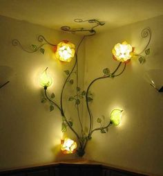 I found 'Custom Made Italian Yellow Rose Corner Wall Lamp' on Wish, check it out!