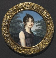 Portrait of a Woman    Italy, Northern Italian School, 19th century    Date: c. 1805    Medium: watercolor on ivory    Dimensions: Diameter - w:6.20 cm (w:2 7/16 inches)    Department: Modern European Painting and Sculpture    Type of art work: Portrait Miniature    Credit Line: Gift of J. H. Wade, Jr., G. G. Wade and Mrs. E. B. Greene    Accession No.: 1926.233    Location: Not on view