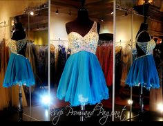 110BP098590319 TEAL HOMECOMING DRESS Don't you just Love this One Shoulder Homecoming Dress?  Colorful Stones and Beads adorn the Bodice and run along the waist of the skirt into the low back. Adorable and ONLY at Rsvp Prom and Pageant in Lawrenceville, Georgia! Come and Try it on or BUY it NOW at http://rsvppromandpageant.net/collections/short-dresses/products/110bp098590319-teal-homecoming-dress