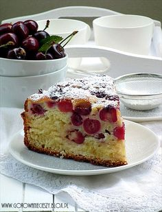 Cherry cheese cake with sour cream icing