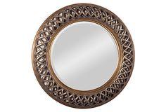 Casey Wall Mirror, Bronze on OneKingsLane.com