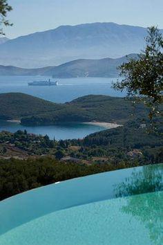 Gina Price's Garden, Corfu, Greek island in the Ionian Sea