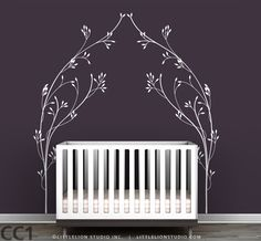 Kids Wall Decal Modern And Wrought Iron Inspired Makes A Beautiful Bed  Headboard For Kids Rooms