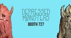 Depressed Monsters Exclusives for Dcon 2017... release the YERMAN!!! #ABS #Artist #Dcon2017 #DesignerConDCon #DesignerToyArtToy