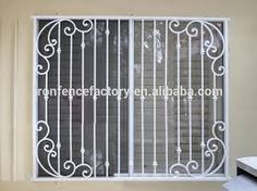 Image result for louvre window with grills
