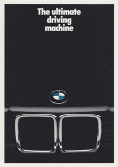 BMW Ad - so simple and sleek. loving the kidneys! #bmw #automotive #activeautowerke
