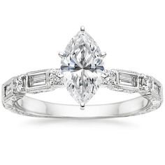 18K White Gold Vintage Diamond Baguette Ring (1/4 ct. tw.) from Brilliant Earth