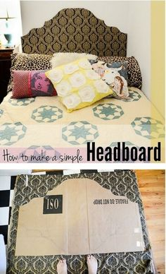 Dorm Room Hacks and Tips - Talk about an upcycle - make a headboard out of cardboard. More College Tips on Frugal Coupon Living.