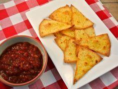 zelfgemaakte tortillachips / homemade tortilla chips