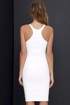 Lady of the Hourglass Ivory Bodycon Dress at Lulus.com!
