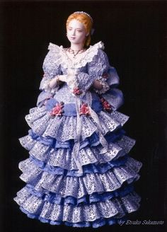 Lace Draping Porcelain Doll   Dream Tree Lace Draping Doll