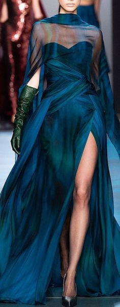 Georges Chakra Haute Couture Fall Winter 2014 Paris, Look Style Haute Couture, Couture Fashion, Runway Fashion, High Fashion, Net Fashion, Haute Couture Dresses, Europe Fashion, Indie Fashion, Punk Fashion