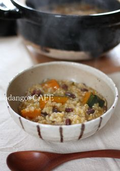 小豆(下茹でなし)とかぼちゃの冬至粥
