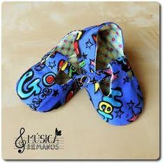 Zapatos bebe de tela