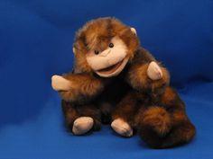 folklore stuffed puppets | Folkmanis Folktails Brown Tan Monkey Full Body Puppet