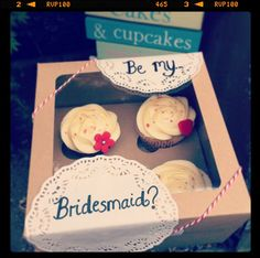 An awesome way to ask your best girls to be with you on your big day!