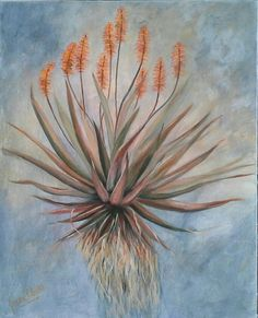 Aloe Strength - acrylic by Josee Clerk Aloe, Art Gallery, Strength, Paintings, Art Museum, Paint, Painting Art, Painting, Painted Canvas