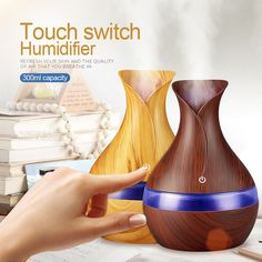 Usb Essential Oils For Aromatherapy Diffusers Humidificador Air Humidifier Wood Grain Essential Oil Diffuser Mist Maker Fogger Shop Aromatherapy Humidifier, Humidifier Essential Oils, Aroma Essential Oil, Essential Oil Diffuser, Aroma Diffuser, Home Fragrances, Air Purifier, Led, Dekoration