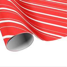 Candy Cane Red Stripes Wrapping Paper #giftwrap #christmas #wrappingpaper