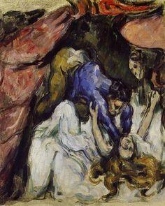 """Paul CEZANNE - """"La Femme étranglée"""" - Peint en 1870-1872 - Localisation: Paris, musée d'Orsay"""