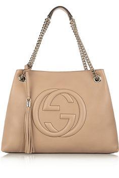 Gucci|Soho medium textured-leather shoulder bag|NET-A-PORTER.COM