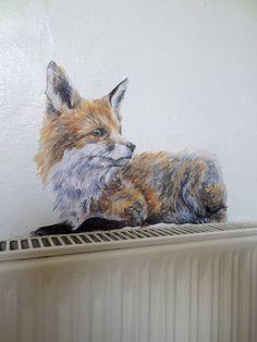 Wall sticker fox red fox wall decal fox wall by SmockBallpoint