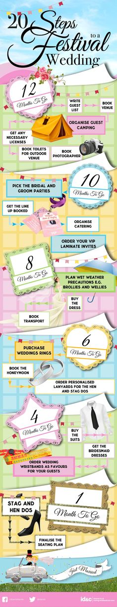 20 Steps to planning the ultimate festival wedding! <3