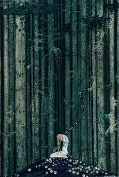 In the Midst of the Gloomy Thick Wood, Kay Nielsen (1886-1957). Via.