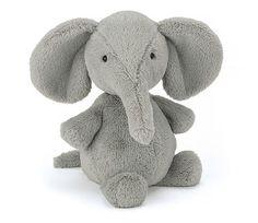 Grå elefant, 27 cm - kosedyr fra Jellycat | Sprell - veldig fine leker og barneromsinteriør