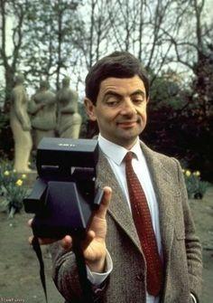 Rowan Atkinson Polaroid / selfie