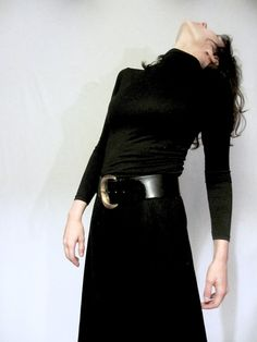 Massive 90s Anne Klein belt / glossy black by thebroodingkind