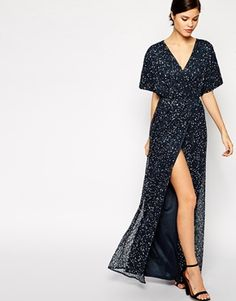 Enlarge ASOS Sequin Kimono Maxi- Alos available in petite $156