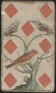 birds on playing card