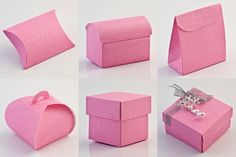 Bright Pink Silk favour boxes are so versatile - girly favours, weddings or christenings!