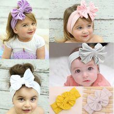 Hair Accessories 1 Pcs Hair Accessories Cute Girl Kids Bow Hairband Turban Headband Headwear Lace Hairband White Pink Purple Red