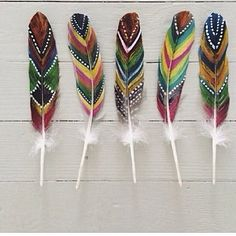 Love these feathers.