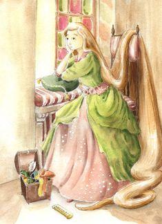 [Fantasy art] Rapunzel by inkpaint at Epilogue
