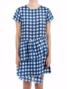 LH HUNTER DRESS BLUE WHITE GINGHAM - LONELY HEARTS S13 :