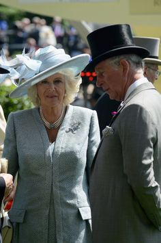 Camilla, Duchess of Cornwall and Charles, Prince of Wales attend day one of Royal Ascot at Ascot Racecourse on June 17, 2014 in Ascot, England