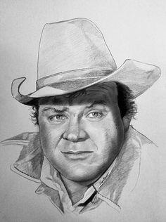 Dan Blocker as Hoss Cartwright Celebrity Caricatures, Celebrity Drawings, Pencil Art Drawings, Art Sketches, Circus Vintage, Bigfoot Photos, Drawings Pinterest, Bonanza Tv Show, Cowboy Art