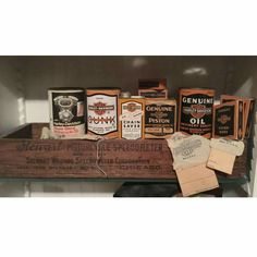 Early Harley Davidson Cans