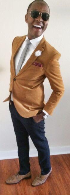 """Thousand""                      ""Words of Malaise""   Corduroy Blazer - @James Richter   Cross Hatch Tie - @Cameron Fredrickson  Ludlow Shirt - @J.Crew  Skinny Leather Belt - @Zara Men   Wool Trousers - @Theory__  WingTip Shoes - @HUGO BOSS  Flower Lapel - @hook + ALBERT  Time Piece - @Tissot_Official   Silk Pocket Square - @Zara Men"